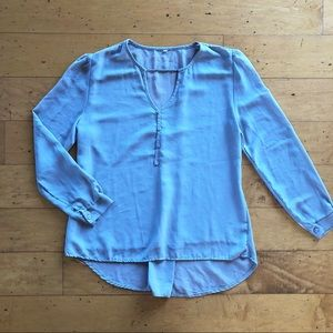NWOT Gray-Blue Chiffon Top